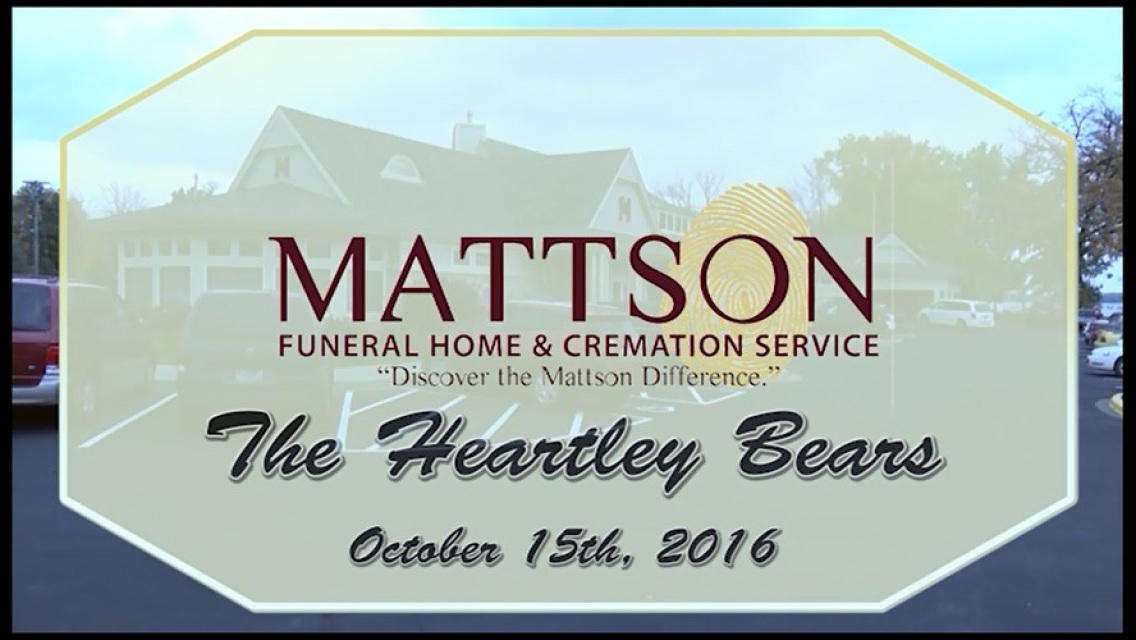 Dvd 2016 Mattson Funeral Home Heartely Bears Fall Event